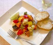 えごま油で蒸し野菜サラダ
